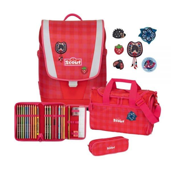 Scout Ultra Schulranzen-Set 4tlg Red Gingham 1