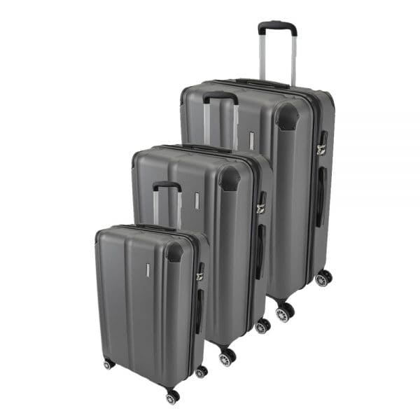 Travelite City 4-Rollen Trolley-Set 3tlg. S-M-L Anthrazit 1