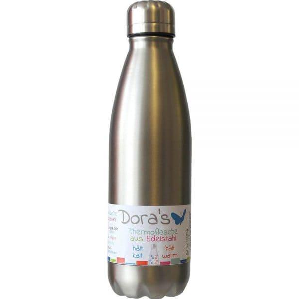 Doras Edelstahl Thermoflasche 500 ml Stahl 1
